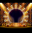 the gold podium is winner or popular on golden vector image vector image
