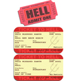Ticket to hell vector image vector image