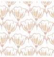 tulip flowers seamless pattern hand drawn lines vector image vector image