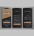 ui ux mobile application interface design vector image