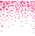 valentines day background flying heart confetti vector image vector image