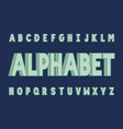 volume bold font alphabet vector image vector image