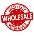 wholesale sign or stamp vector image vector image