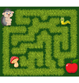 Help hedgehog to find way to apple fruit vector image
