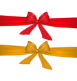 red and gold bow on white background vector image