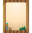A busy lumberjack in front of the empty wooden vector image vector image