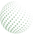 abstract globe with green halftone vector image vector image