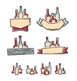 Alcohol labels vector image vector image