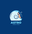astro abstract sign emblem icon or logo vector image vector image