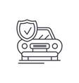 auto insurance line icon concept auto insurance vector image vector image
