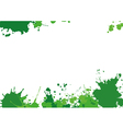 Background with green blothes vector image vector image
