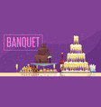 banquet horizontal banner vector image vector image