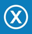 basic font letter x icon design vector image vector image
