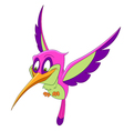 beautiful cartoon hummingbird vector image vector image