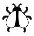 beetle bug icon image vector image vector image