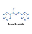 benzyl benzoate is a medication vector image vector image