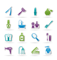 body care and cosmetics icons vector image vector image