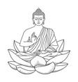 Buddha sitting on Lotus vector image