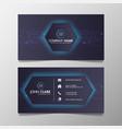 business card modern technology network light blue vector image vector image