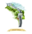 Chinese Great Wall Watercolor icon