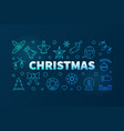 christmas blue linear horizontal vector image vector image