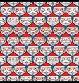 Christmas santa claus emotion face seamless vector image vector image