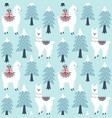 christmas tree and cute lama with gift boxes vector image vector image