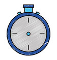chronometer timer isolated icon vector image vector image