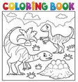 coloring book dinosaur subject image 2 vector image vector image