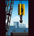 construction crane vector image vector image