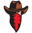 Cowboy head vector image vector image