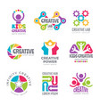 creative logo templates colorful abstract vector image
