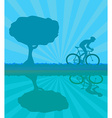 Cycling man Silhouette Grunge Poster Template vector image