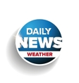 Daily news weather vector image