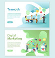 digital marketing and team job internet web pages vector image vector image