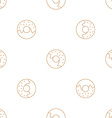 donuts outline seamless pattern vector image vector image