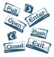Door Signs technical vector image vector image
