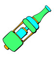 Electronic cigarette mouthpiece icon cartoon