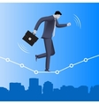 Equilibrium business concept vector image vector image