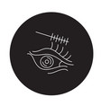 eye makeup black concept icon eye makeup vector image