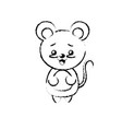 figure cute mouse wild animal with face expression vector image vector image