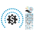 Financial Industry Protection Sphere Icon With vector image vector image
