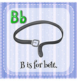 Flashcard letter B is for belt vector image