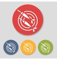 Flat dart icons set vector image vector image