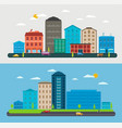 flat design urban landscape composition city scene vector image vector image