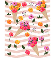 flowers picotee pattern background vector image vector image