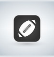 football icon on app button with shadow vector image vector image