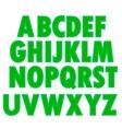 Green Textile Alphabet vector image vector image