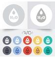 H2O Water drop sign icon Tear symbol vector image vector image