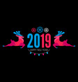 happy ner 2019 year christmas design template with vector image vector image